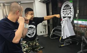 現役格闘家による指導、パーソナルトレーニング